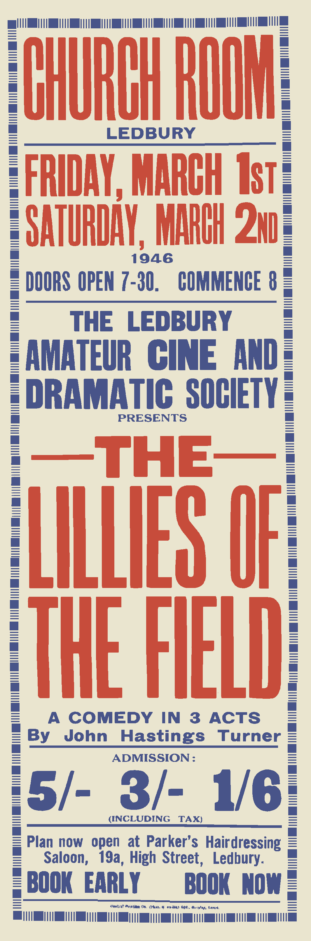 The Lillies of the Field